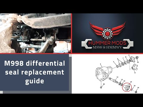 M998 Hummer H1 HMMWV Leaking Differential Seal Replacement