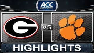 2013 ACC Football Highlights | #5 Georgia vs #8 Clemson | ACCDigitalNetwork