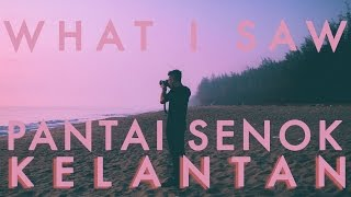 Cover images WHAT I SAW : PANTAI SENOK KELANTAN