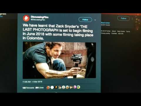 Zack Snyder's 'The Last Photograph' Begins Production this June? Hold on...