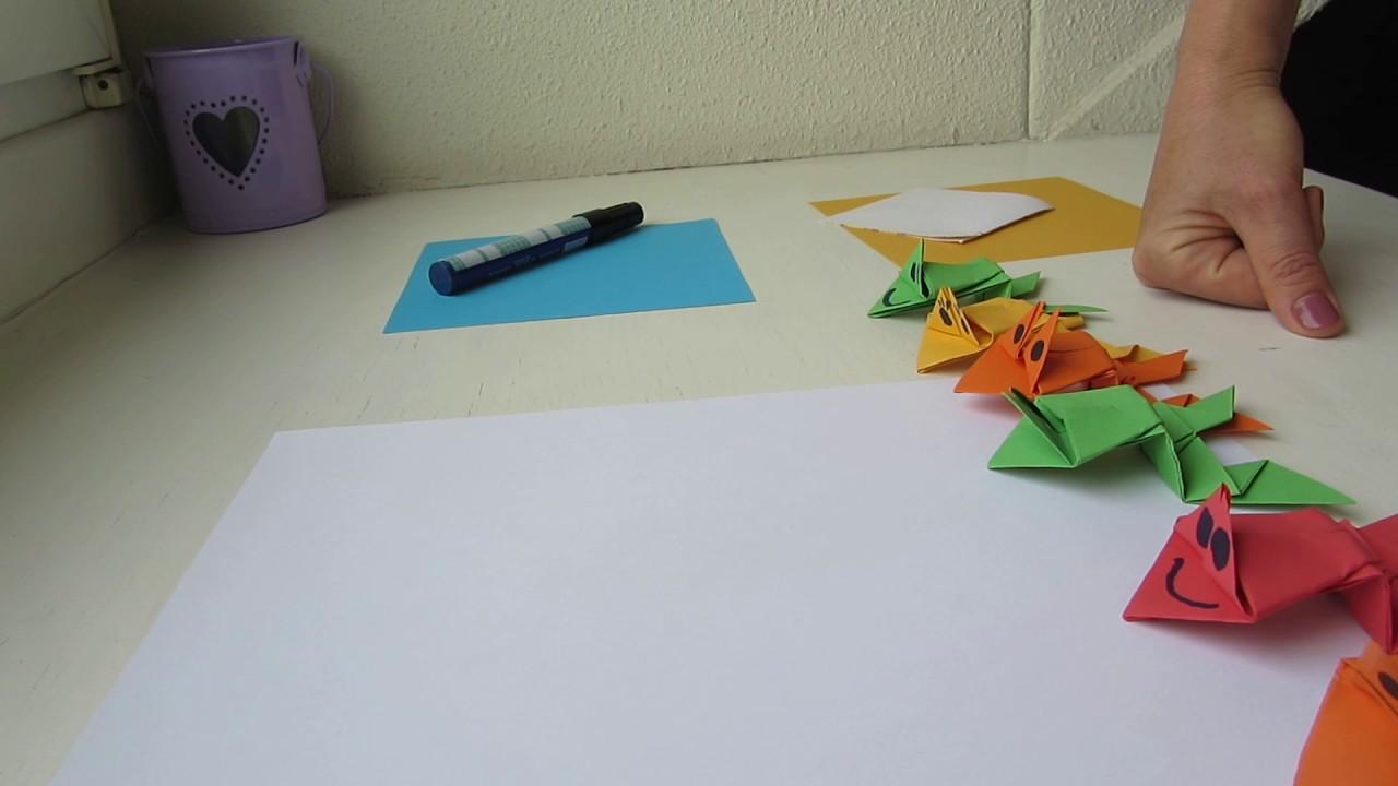 Как сделать оригами лягушку чтобы прыгала фото 21