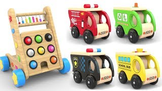 Learn Coors with Wooden Hammer Street Vehicles Toys - Toy Cars for KIDS