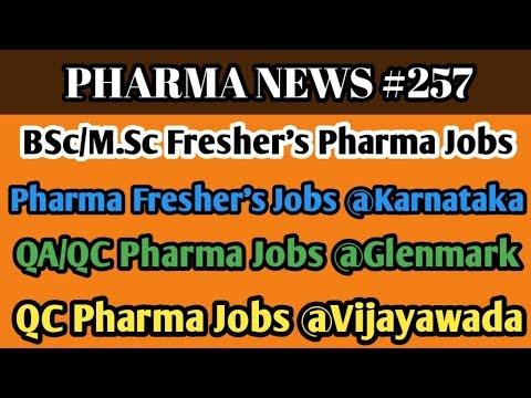 PHARMA NEWS #257   Glenmark Sahithi RAchem SMS Pharma Jobs For Freshers & Experience   Pharma Guide