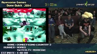 Donkey Kong Country 3 :: SPEED RUN (0:52:47) by MorKs #AGDQ 2014
