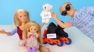 На Ролики у Мами не вистачило Грошей Мультик #Ляльки Барбі Іграшки Для дівчаток IkuklaTV Школа