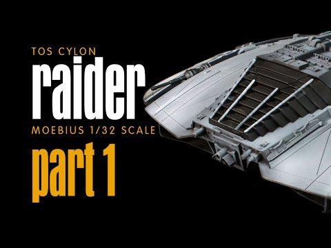 PART 1 - TOS CYLON RAIDER Moebius 1:32 Scale Build