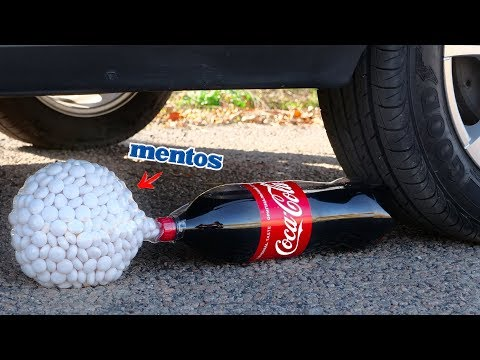 Crushing Crunchy & Soft Things by Car! - Cola and Mentos in Balloon vs Car