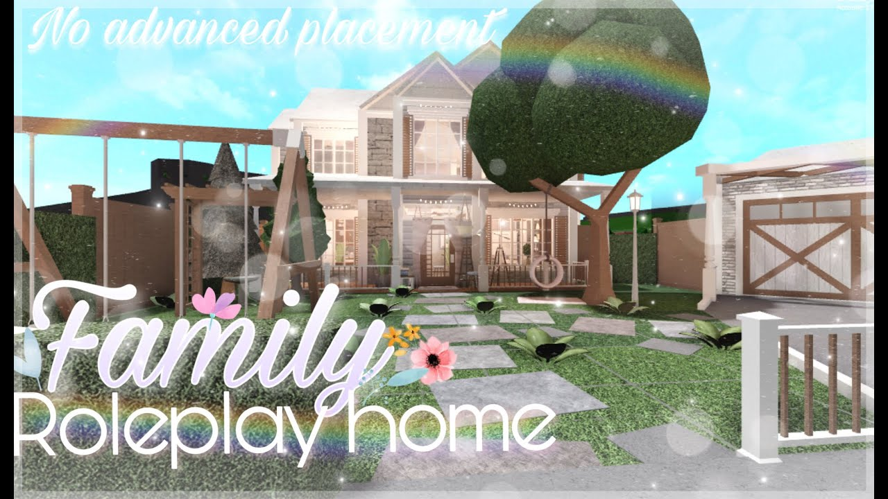 Bloxburg: No Advanced Placement Family Roleplay Home - YouTube