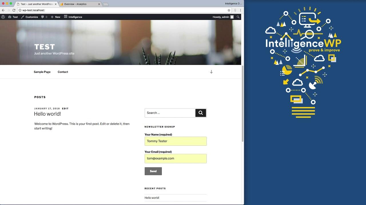 Contact Form 7 Google Analytics Intelligence Wordpress Plugin
