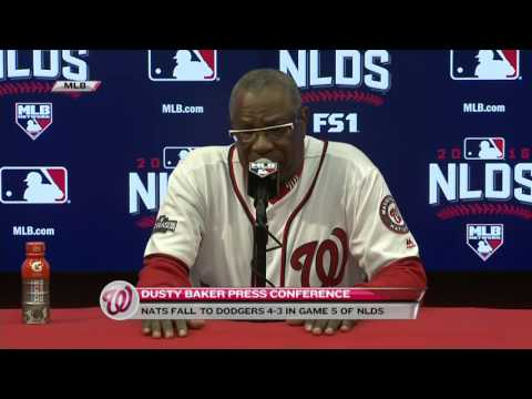 Dusty Baker following Nationals' 4-3 loss in NLDS - YouTube