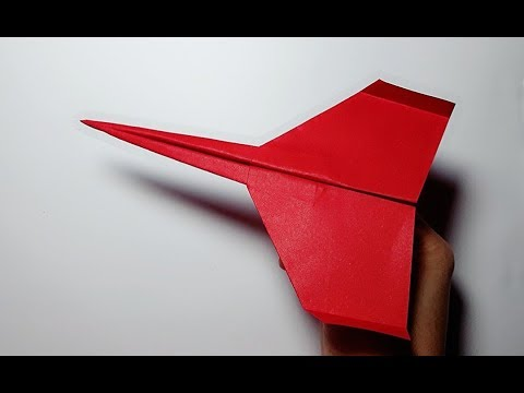 BEST LONG DISTANCE paper plane in 2019 - How to make a Paper Airplane that Flies Far