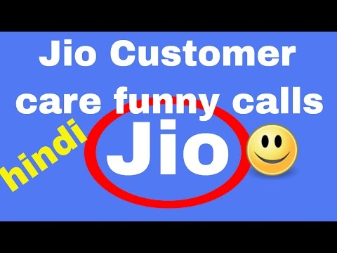 Jio Customer care funny calls Hindi