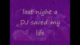 Mariah Carey - Last Night A DJ Saved My Life (lyrics on screen)