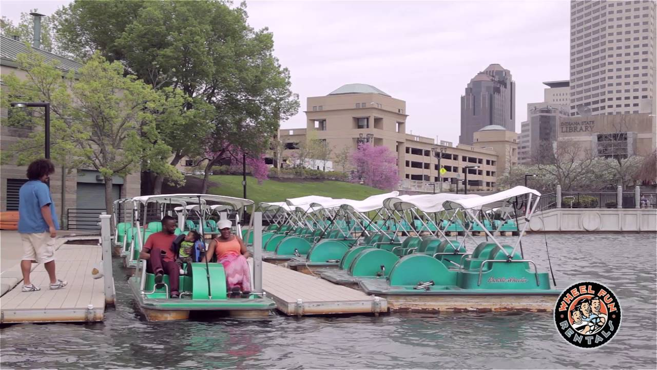 Wheels Fun Bike and Boat Rental on the Canal in Downtown Indy - YouTube