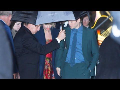 Taylor Swift and boyfriend Joe Alwyn hold hands after 'Cats' premiere