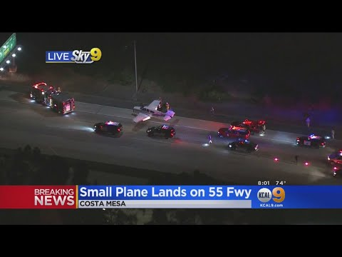Small Plane Makes Emergency Landing On 55 Freeway