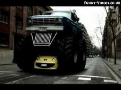 small car big truck youtube. Black Bedroom Furniture Sets. Home Design Ideas