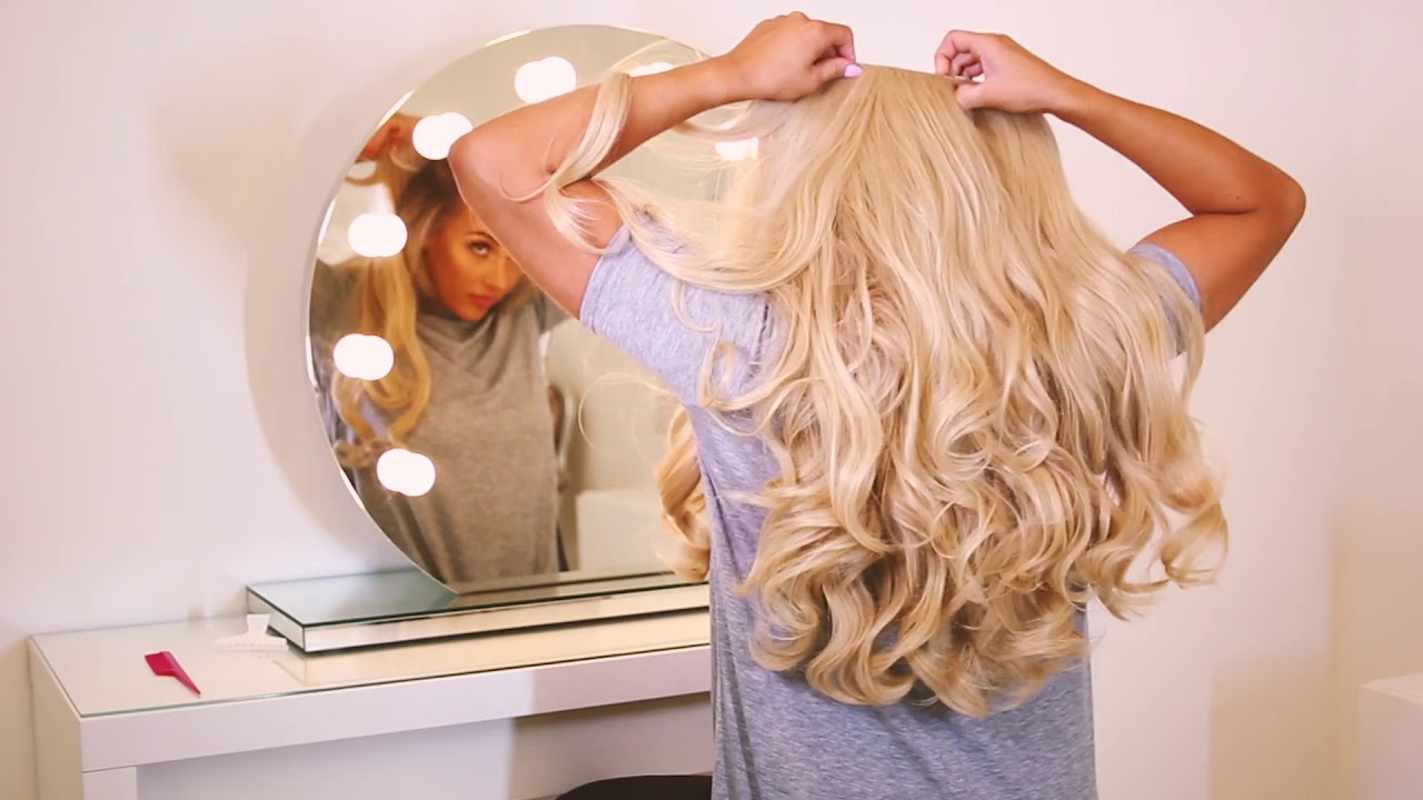 How To Clip In Hair Extensions Xxl Volume Double Curly Weft
