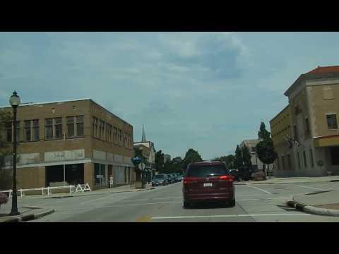 Drive Through Downtown Sheboygan, Wisconsin