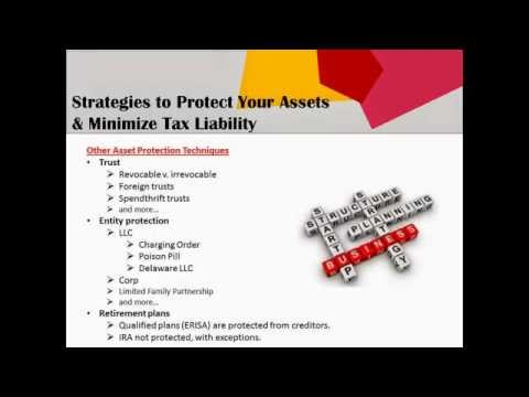 Strategies to Protect Your Assets & Minimize Tax Liability -