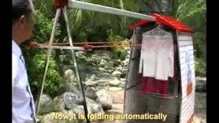 Solar Power Automatic Clothes Rack