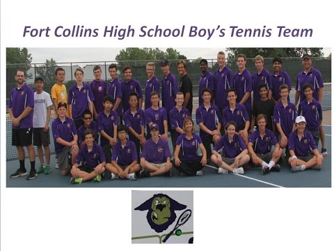Fort Collins High School Boy's Tennis Team 2016
