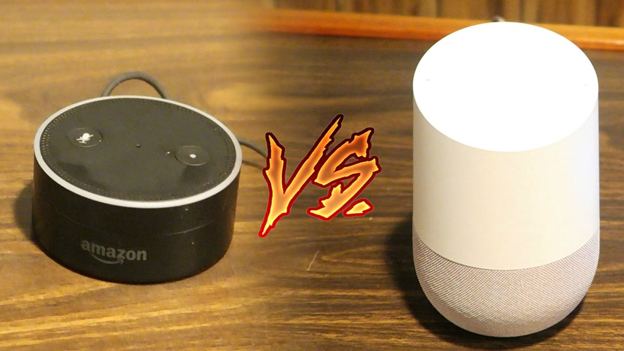 google home vs amazon echo dot comparison speed test. Black Bedroom Furniture Sets. Home Design Ideas