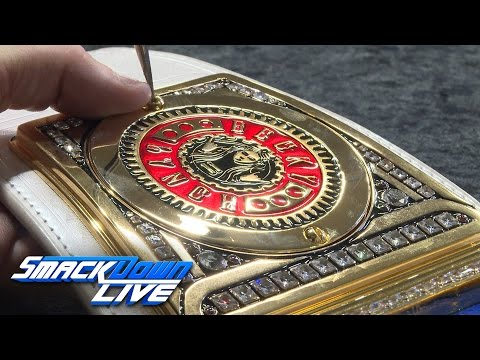 Becky Lynch receives her SmackDown Women's Championship plates: Sept. 13, 2016