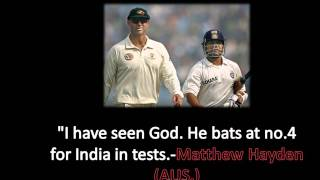 Matthew Hayden on Sachin Retirement