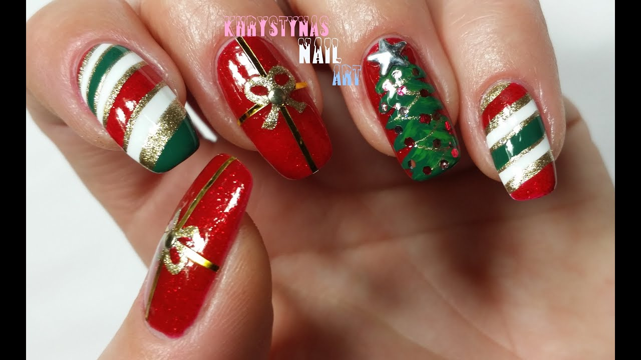 Nail Art for Christmas: Three Christmas Nail Art Designs ...