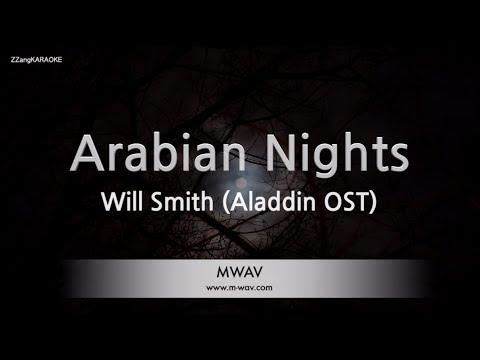 Will Smith-Arabian Nights (Aladdin OST) (Melody) (Karaoke Version) [ZZang KARAOKE]