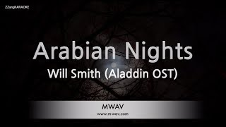 Will Smith-Arabian Nights (Aladdin OST) (Melody) (Karaoke Version) [ZZang KARAOKE]