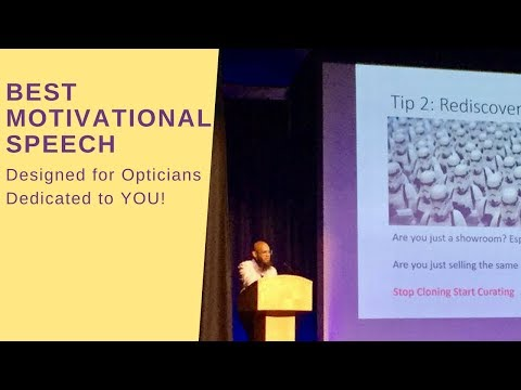 Best Motivational Speech For Indie Opticians and Fans - iDay Conference 2017