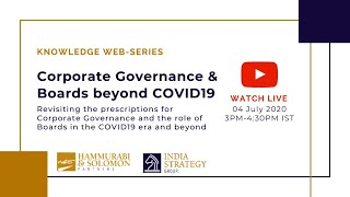 [Live Webinar] Corporate Governance & Boards beyond COVID 19