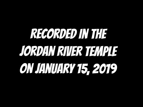 Mormon Temple First Presidency message preceding endowment ceremony [Recorded on January, 15, 2019]