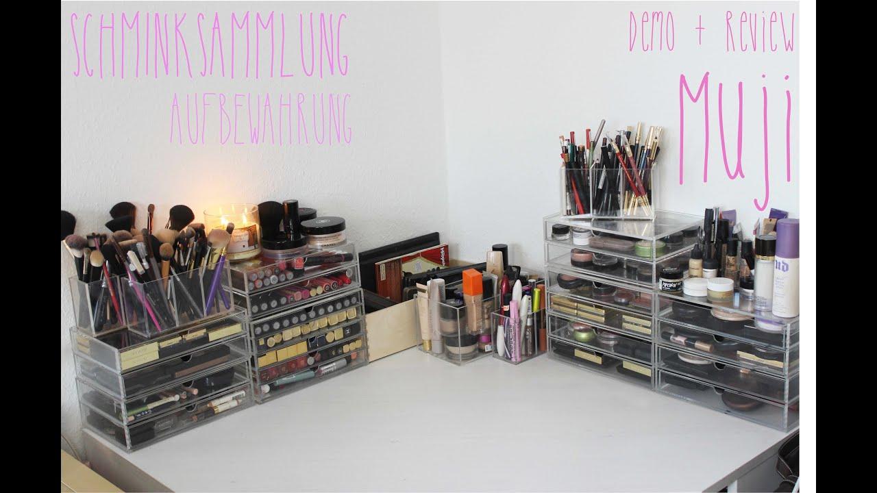 Kosmetik Aufbewahrung Ikea makeup aufbewahrung muji kollektion
