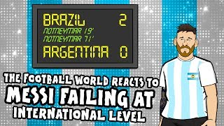 🤣MESSI FAILS AGAIN! FOOTBALL REACTS!🤣 (Brazil 2-0 Argentina Copa America Semi-Final 2019)