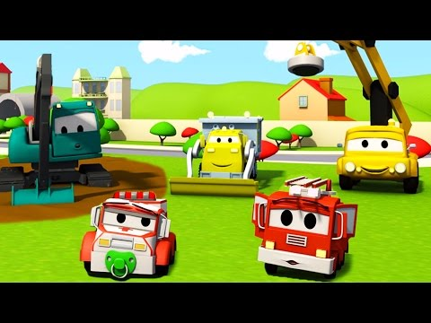 Construction Squad The Dump Truck The Crane And The Excavator And