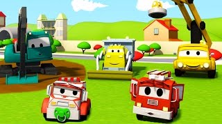 Construction Squad: the Dump Truck, the Crane and the Excavator and the Car Wash in Car City
