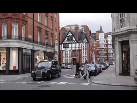 London, England:  Sloane street and Belgrave square