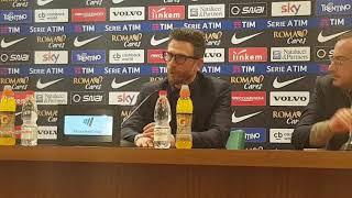 """Conferenza stampa Di Francesco post Benevento: """"Dopo il 4-1 siamo stati superficiali"""""""