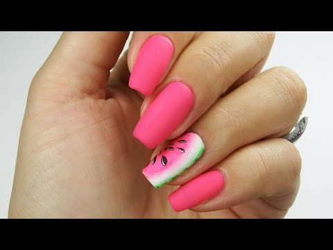 Easy watermelon nail art / Arbuzowo 🍉❤️/ Bluesky Polska