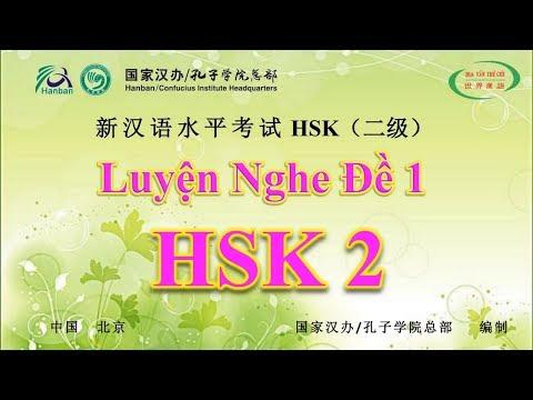 HVTG   Luyện Nghe HSK 2   Đề Thi HSK Có Đáp Án   HSK Chinese Level 2