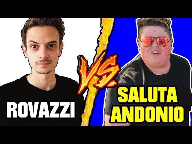 Fabio Rovazzi VS Saluta Andonio - Battaglia Rap Epica - Manuel Aski