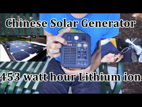 Solar Generator In-depth Review: Chinese Lithium-ion 453 watt hour battery, 500 watt inverter