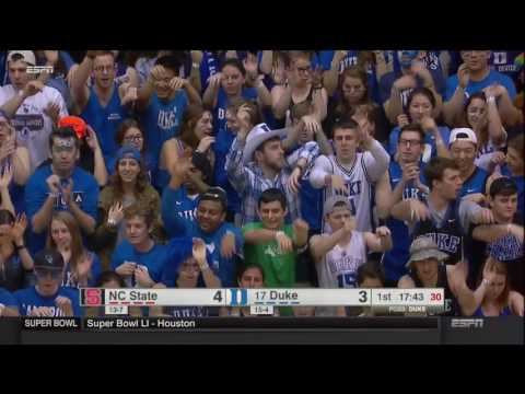 2017.01.23 NC State Wolfpack at #17 Duke Blue Devils Basketball
