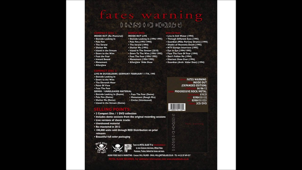 Fates Warning - Face the Fear (instrumental)