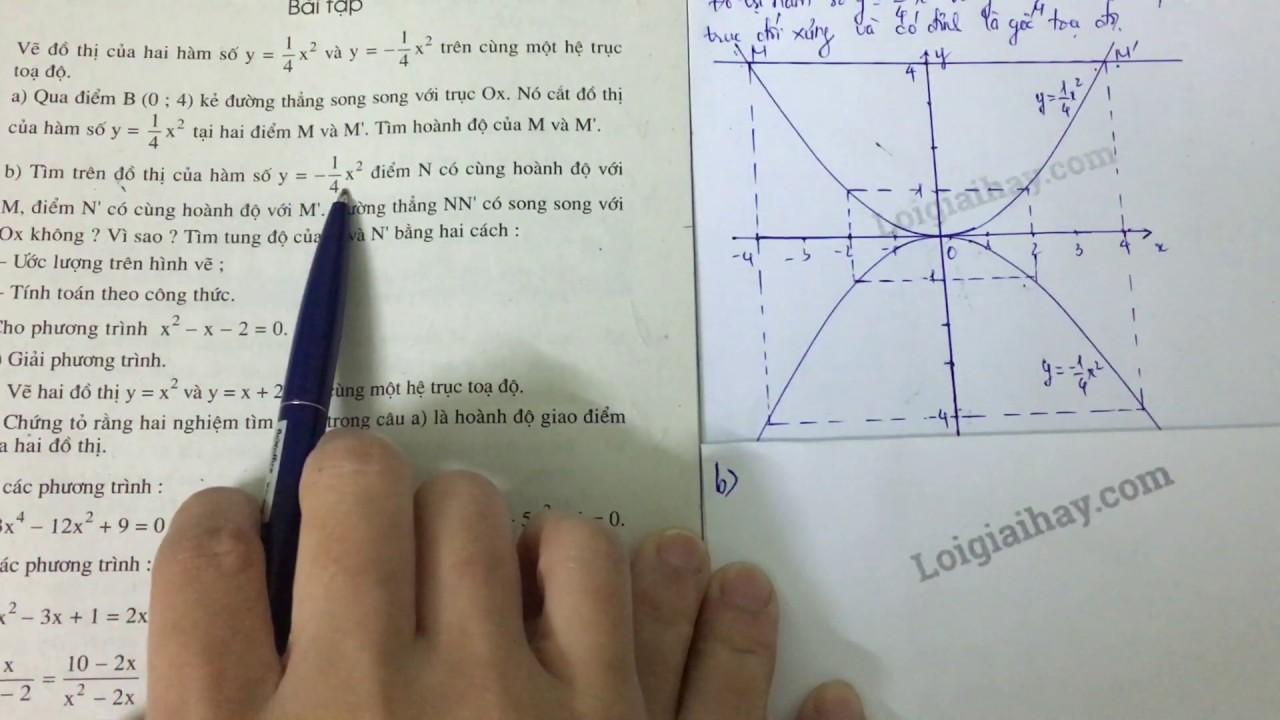 Giải bài 54 trang 63 SGK toán 9 tập 2