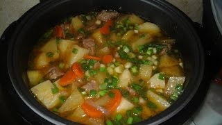 Мясо с картошкой в мультиварке, рецепт жаркого, как приготовить говядину с картошкой