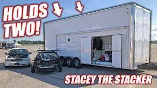 We Bought a Used 2-Car STACKER Trailer! Introducing